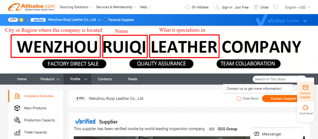 The name of the company can tell you many things: The location, the specialization, and even the company type.