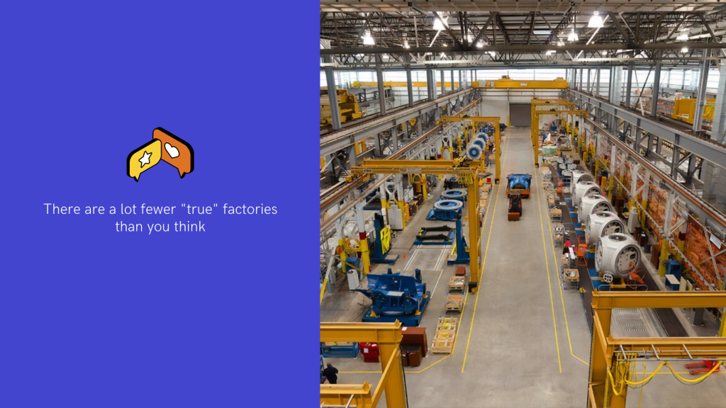 """There are a lot fewer """"true"""" factories than you think"""
